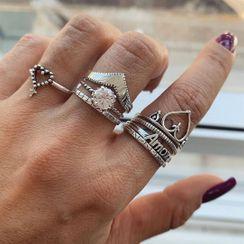 Yeoleum - 八件套裝: 合金戒指 (多款設計)