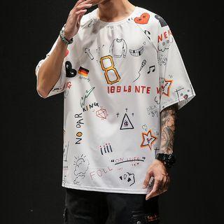 Granada - Printed Elbow-Sleeve T-Shirt