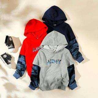 Happy Go Lucky - Kids Mock Two-Piece Lettering Hoodie