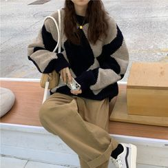 GOUB - Argyle Sweater / Wide-Leg Pants