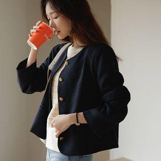 JUSTONE - Round-Neck Tweed Jacket