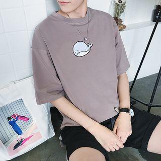 Basique - Whale Print T-Shirt