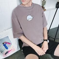 Basique - T-shirt imprimé baleine