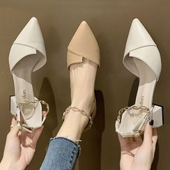 Brightsea - Chain Strap Block Heel Sandals