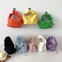 Geolte - Shirred Strap Canvas Hobo Bag