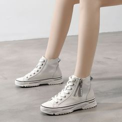 BELLOCK - High Top Zip Detail Sneakers