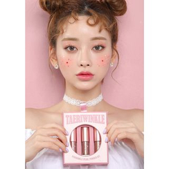 beige chuu - Taeri Winkle Pearl Powder Kit: #266 Hidden Brown + #267 Bestie Pink + #268 Glow Peach