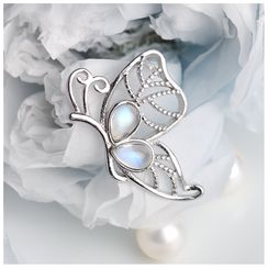 Kanzashi(カンザシ) - Retro Moonstone Butterfly Pendant