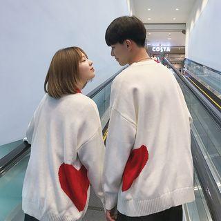 Pleasantville - Couple Matching Heart Print Sweater