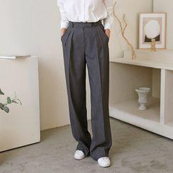 Seoul Fashion(ソウルファッション) - Loose-Fit Dress Pants