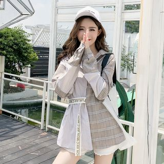 Angel Shine - Oversize格子衬衫
