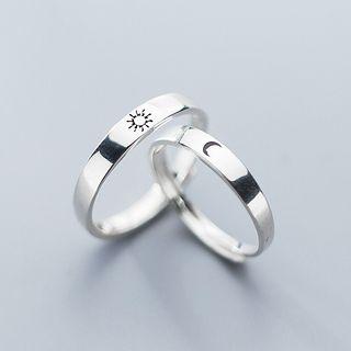 A'ROCH - 情侣款925纯银雕刻戒指