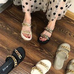 POPOW - 厚底链条凉鞋