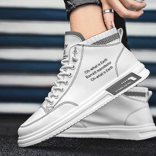 Signore - Lettering High-Top Sneakers