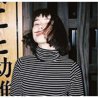 Bloombloom - Striped Mock-Turtleneck Sweater