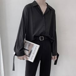 Mudian - Long-Sleeve Plain Shirt