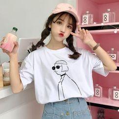Sofame - 短袖印花T裇