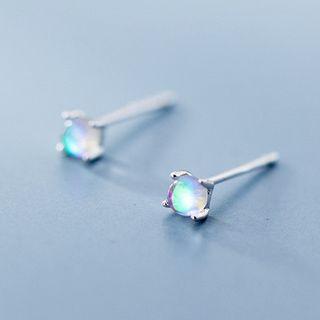 A'ROCH - 925 Sterling Silver Moonstone Stud Earrings