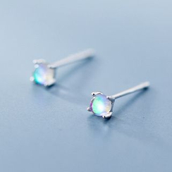 A'ROCH - 925 Sterling Silver Moonstone Stud Earrings