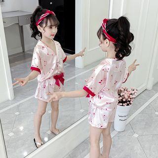 Qin Qin - Kids Pajama Set: Short-Sleeve Shirt + Shorts (Various Designs)