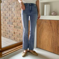 Envy Look - Fray-Hem Straight-Cut Jeans