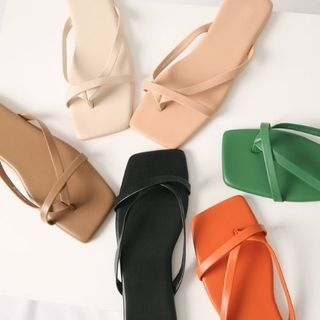 Wifky - Square-Toe Thong Flip-Flops