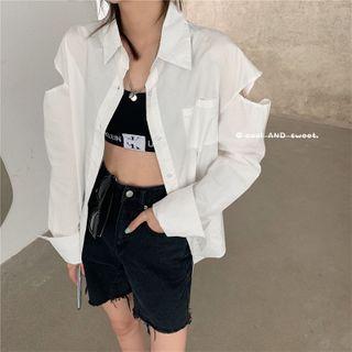 Concerindo - Off Shoulder Long-Sleeve Shirt