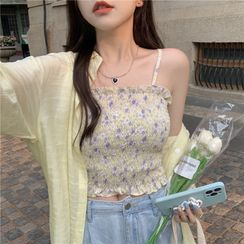 Closette(クロゼット) - Floral Camisole Top / Shirt