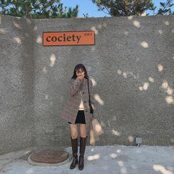 CHERRYKOKO - Inset Shorts Corduroy Miniskirt