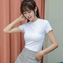 Coheat - Short-Sleeve Plain T-Shirt