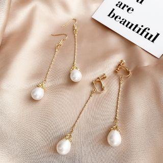 Mimishi - Faux Pearl Drop Earring