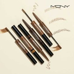 MACQUEEN - My Colouring Dual Eyebrow Pencil & Browcara - 3 Colors