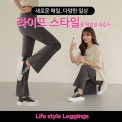 CLICK - High-Waist Boot-Cut Leggings