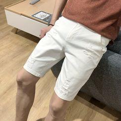 DuckleBeam - Ripped Denim Shorts
