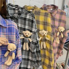Malnia Home - Plush Toy Plaid Shirt