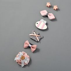 Oohlala! - Baby Set of 6: Cartoon Hair Clip