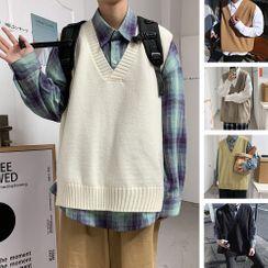Andrei - V-Neck Knit Vest