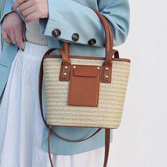 Emvee - 編織斜挎手提袋