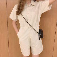 Hevnir - Short-Sleeve Playsuit