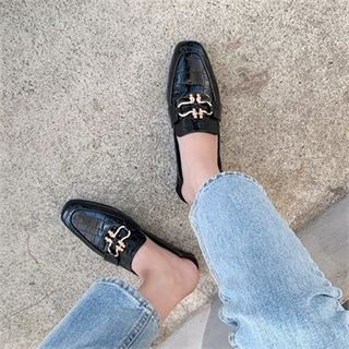 MONOBARBI - Buckled Pleather Loafers