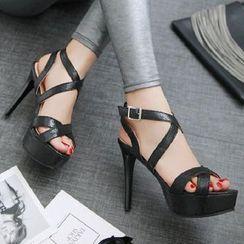 Freesia - 厚底高跟涼鞋
