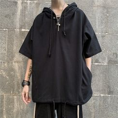 Wescosso - Short-Sleeve Hooded Top