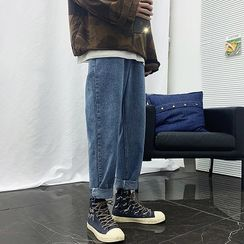 FOEV - 抽绳哈伦牛仔裤