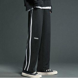 Shazoom - 条纹直筒运动裤