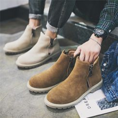 CATCOOL - Faux Suede Platform Ankle Boots