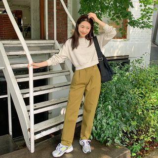 FROMBEGINNING - Relaxed-Fit Cotton Pants