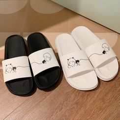 Honkizz - Couple Matching Printed Home Slippers