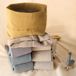 nooyi - Fleece-Lining High-Waist Stirrup Tights