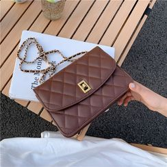 Shimme - Quilted Flap Chain Crossbody Bag