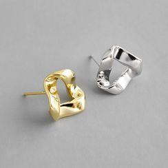 Phoenoa(フェノア) - 925 Sterling Silver Twisted Earring